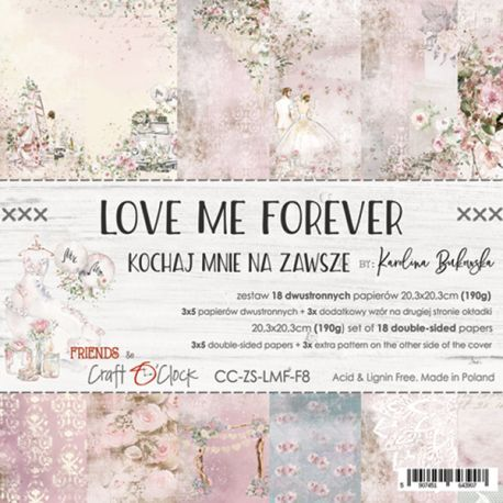 Love Me Forever Paper Set 20x20