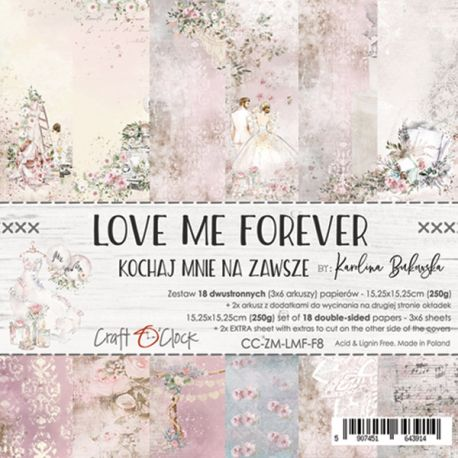 Love Me Forever - Paper Set 15x15
