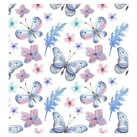 Tejido de puntos Interlock Mariposas