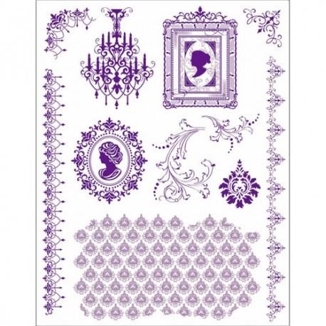 Surtido sellos Acril. Motivos Camafeo