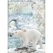 Papel Arroz A4 Polar Bears