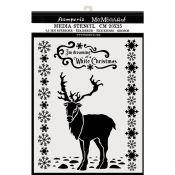 Stencil White Christmas Dear