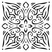Stencil Bella - Tile Ornament