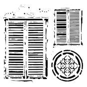 Stencil Bella - Windows in Venice