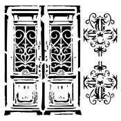 Stencil Bella - Vintage Door