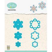 Set Troqueles Copos de nieve en capas 05