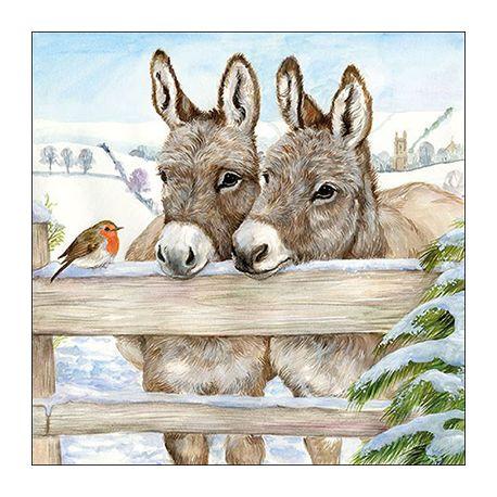 Servilleta Donkeys