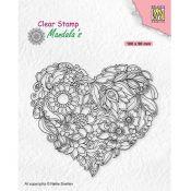 Sello Mandala Flower Heart