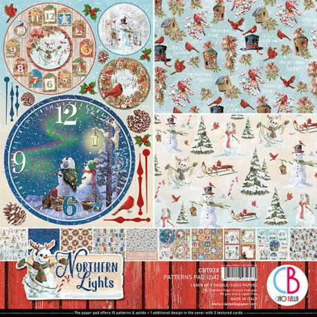 Northern Lights Pattern 30x30 paper Pad