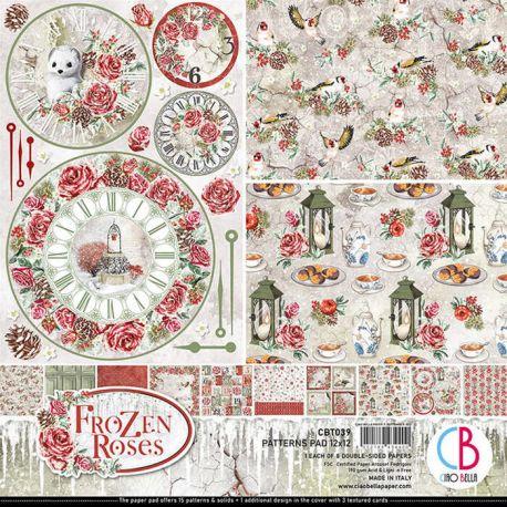 Frozen Roses Pattern 30x30 paper Pad