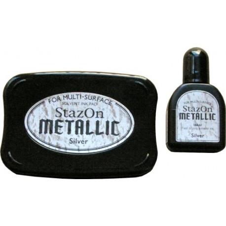 StazOn Metallic - Silver