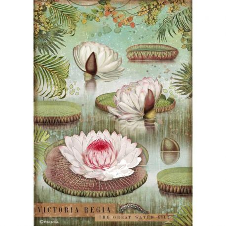 Papel Arroz A4 Water Lily