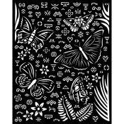 Stencil Amazonia Butterflies