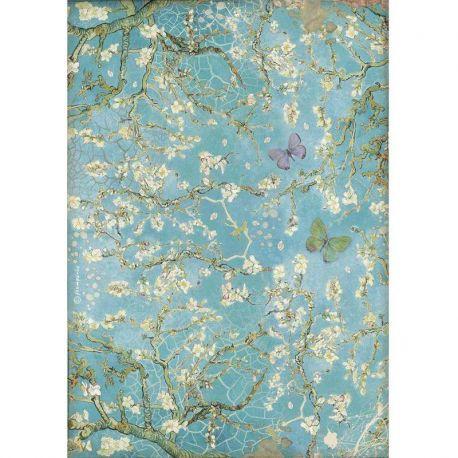 Papel Arroz A4 Atelier Blossom Blue