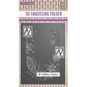 3D Embossing Folders Flower frame