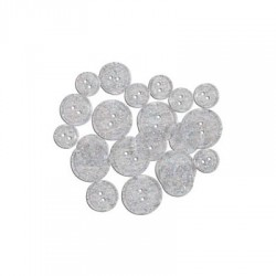 GLITTER BUTTONS - Clear Glitter Transparent