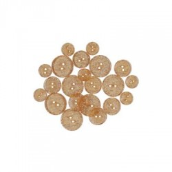 GLITTER BUTTONS - Orange Glow Transparent