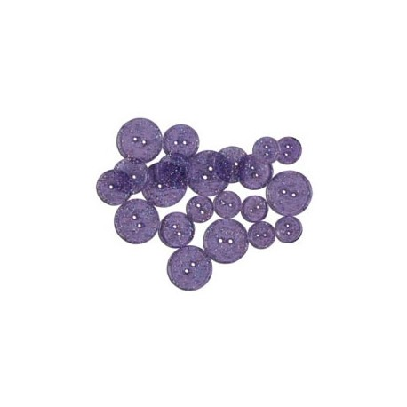 GLITTER BUTTONS - Grape Glitter Transparent