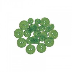 GLITTER BUTTONS - Lime Light Transparent