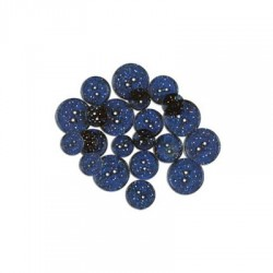 GLITTER BUTTONS - Blinking Blue Transparent
