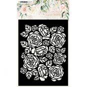 Stencil Alfombra de rosas