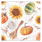 Servilleta Pumkins and Sunflowers