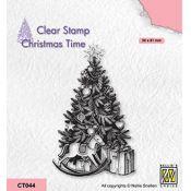Sello acrílico Christmas Tree and present