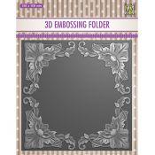 3D Embossing Folder - Exotic Flower frame