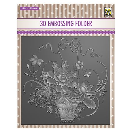 3D Embossing Folder - Flower Bouquet