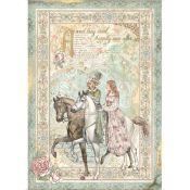 Papel Arroz A4 Sleeping Beauty Horse