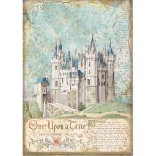 Papel Arroz A4 Sleeping Beauty Castle