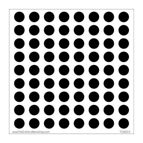 Template 6x6 - Circle grid