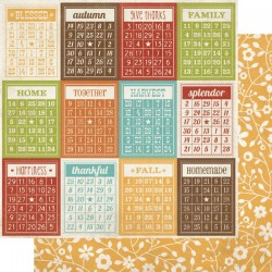 Harvest Lane - Bingo Cards/Yellow Floral