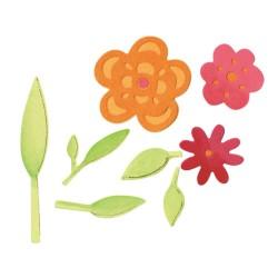 Sizzlits Die - Flowers & Leaves Set