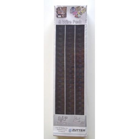 """Espirales o wires para encuadernar con la Bind-it-All de Zutter tamaño 3/4"""" en color negto"""
