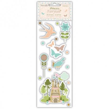Pegatinas 3D Princess Fairytales Gardens