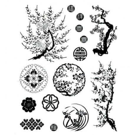 Artemio Sellos acrílicos transparentes Primavera Oriental (10001168)