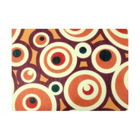 Fieltro estampado - Brown Dots