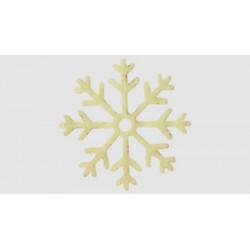 6 Copos de Nieve (blanco)