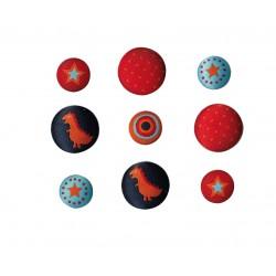 Botones bordados NOE