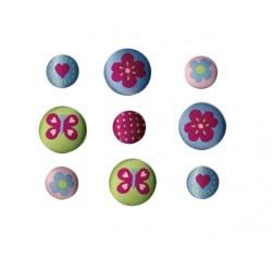 Botones bordados LUCY