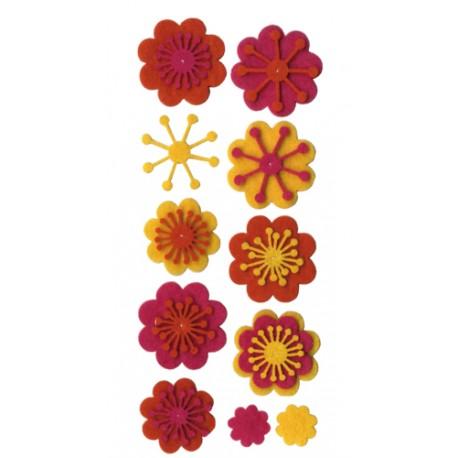 Flores de fieltro FUN