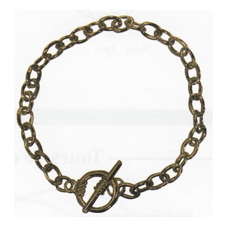 Pulsera color bronce