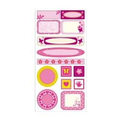 Etiquetas mini marcos Girl
