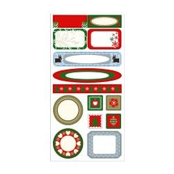 Etiquetas mini marcos Navidad Clasico
