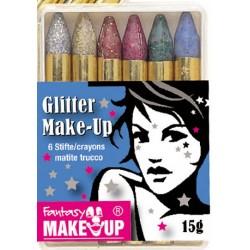 Surtido 6 Lapiz de maquillage Glitter