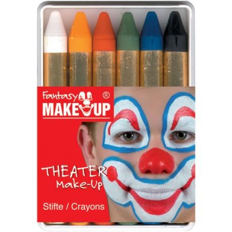 Surtido 6 Lapiz de maquillage colores