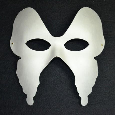 Máscara de carton blanco, Mariposa
