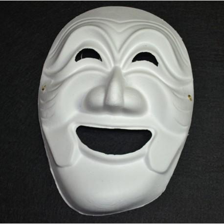 Máscara de carton blanco, Bruja