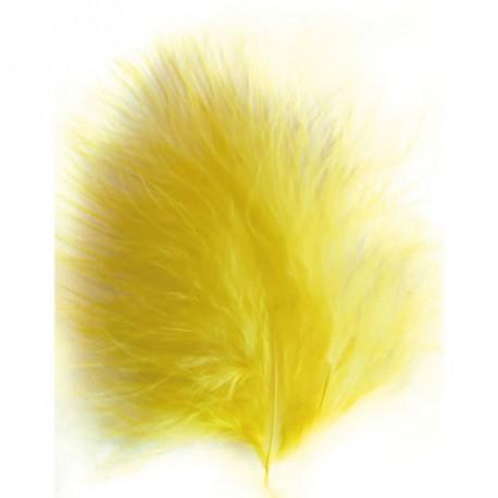 Plumas Marabú - Amarillo